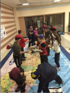 Hands-on lesson about water conservation in Israel.